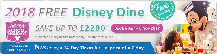 Disney Dine offer