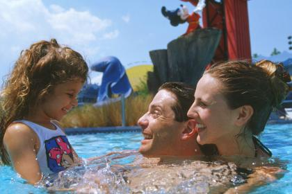 Disney's All-Star Movies Resort family in pool