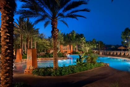 Disney's Animal Kingdom Lodge - Kidani Villas Pool at night