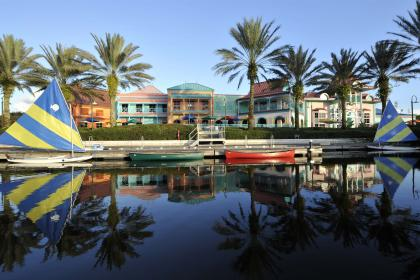 Disney's Caribbean Beach Resort lake front