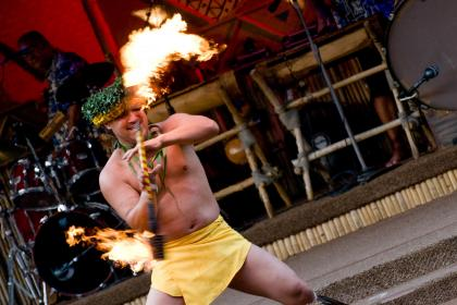 Disney's Polynesian Villas and Bungalows Fire dance