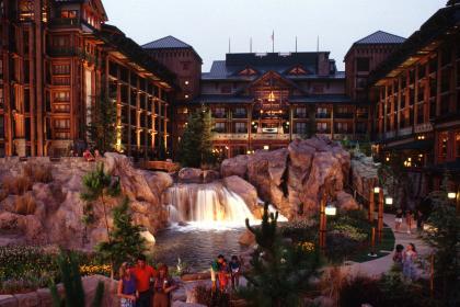 Disney's Wilderness Lodge Nighttime