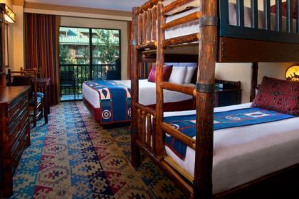 Disney's Wilderness Lodge Bunk Bed Room